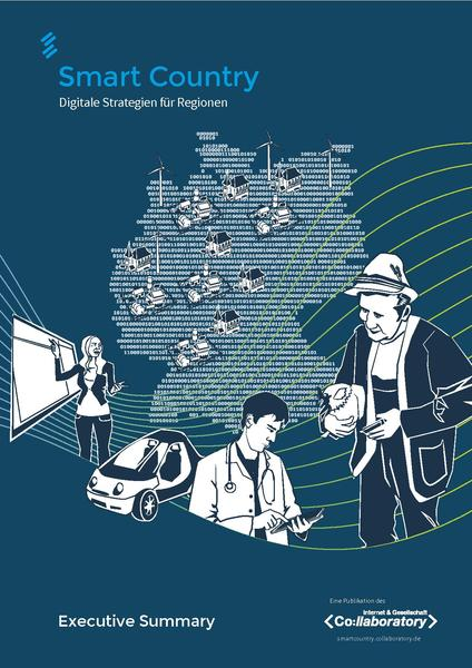 "Titelbild der Executive Summary der Studie ""Smart Country. Digitale Strategien für Regionen"" des collaboratory e.V."