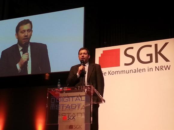 """Lars Klingbeil, MdB SPD, Abschlussvortrag auf der Tagung """"Die digitale Stadt"""" der SGK NRW am 20.3.15 in Wuppertal"""