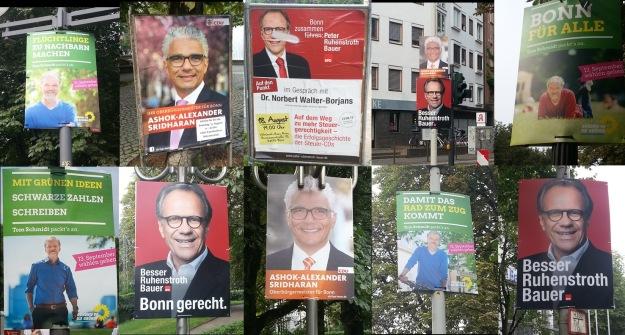 Fotos von Wahlplakaten zum OB-Wahlkampf 2015 in Bonn