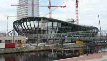 Foto von der Baustelle des Klimahauses in Bremen