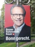 Foto eines Wahlplakats von Peter Ruhenstroth-Bauer zum OB-Wahlkampf 2015 in Bonn