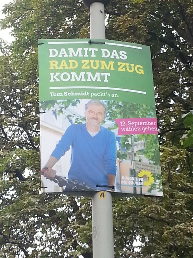 Foto eines Wahlplakats von Tom Schmidt zum OB-Wahlkampf 2015 in Bonn