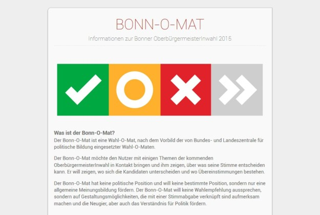 Screenshot von www.bonn-o-mat.de am 8.9.2015