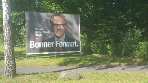 Foto eines Wahlplakats von Peter Ruhenstroth-Bauer zur OB-Wahl 2015 in Bonn