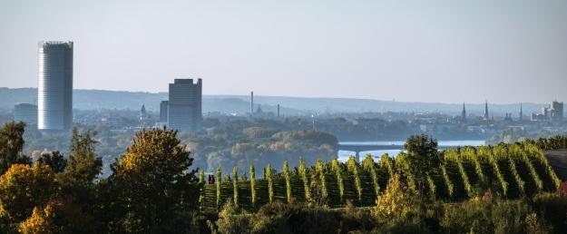 Foto mit Blick auf Teile Bonns und des Rhein-Sieg Kreises