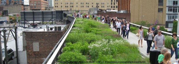 Foto mit Blick auf die Highline in New York City