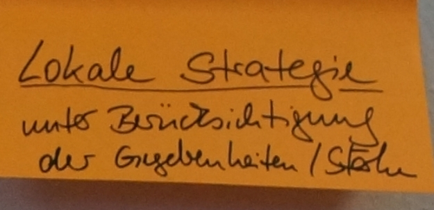 """Stichworte aus der Abschlussdiskussion der Tagung """"Smart City konkret"""" des Arbeitskreises Stadtentwicklung des Deutschen Verbandes für Angewandte Geographie (DVAG) und des Arbeitskreises Stadtzukünfte der Deutschen Gesellschaft für Geographie am 10.2.2017 in Bonn: """"lokale Strategie unter Berücksichtigung der Gegebenheiten / Stärken"""""""