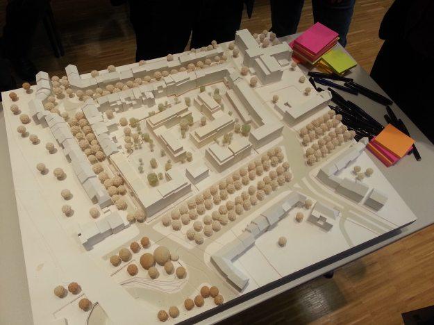 Foto eines Modells von ASTOC Architects and Planners zur zukünftigen Entwicklung auf dem Gelände der Zurich-Versicherung Bonn