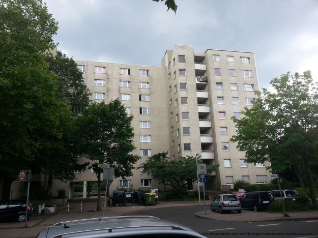 Foto eines Wohngebäudes in Bonn-Tannenbusch am 15.7.2017