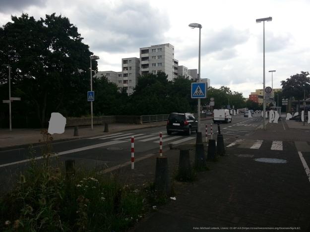 Foto einer Straßensituation in Bonn-Tannenbusch am 15.7.2017