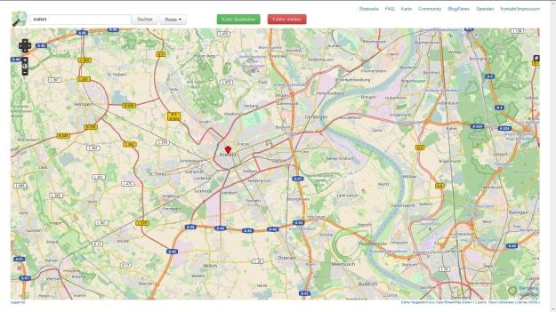 OpenStreetMap-Karte von Krefeld