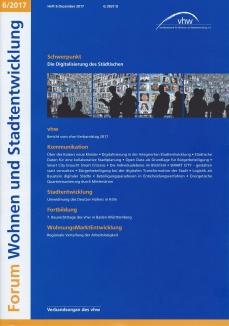 Scan der Titelseite von Heft 6 Forum Wohnen und Stadtentwicklung des vhw