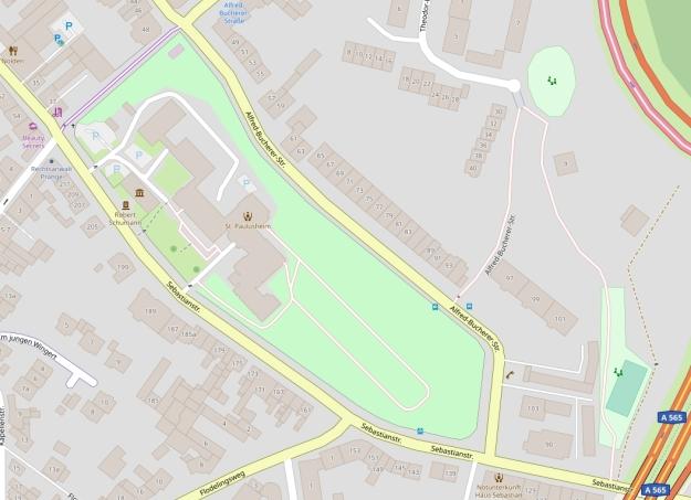Kartenausschnitt Ehemaliges Paulusheim Bonn-Endenich von OpenStreetMap.de