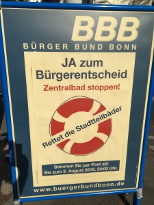 Foto eines Plakats des BBB zum Bürgerentscheid
