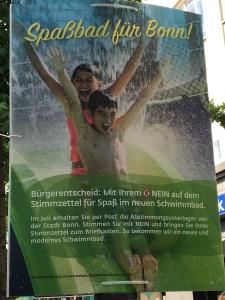 Foto eines Plakats von Horst Burbulla zum Bürgerentscheid