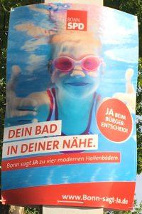 Foto eines Plakats der SPD zum Bürgerentscheid