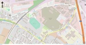 Kartenausschnitt Vogelsang und west.side in Bonn-Endenich; OpenStreetMap.de Lizenz: Open Database License (ODbL)