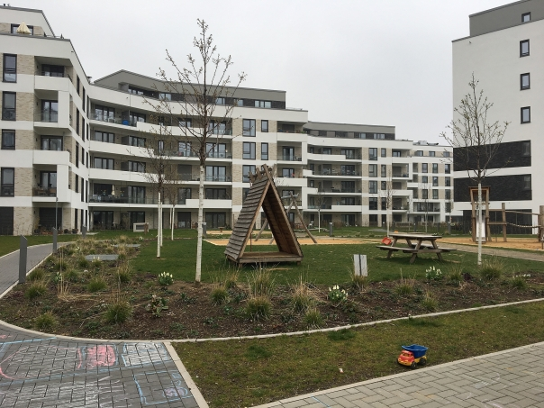 Foto des Bauvorhabens Südstadtgärten in Bonn-Kessenich, Spielplatz im Quartier
